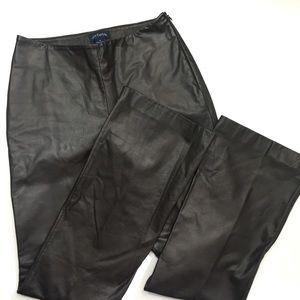 Ann Taylor | Brown Leather Pants